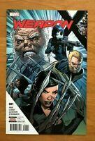 Weapon X # 1 2017 Jay Leisten Main Cover 1st Print Marvel Comics NM