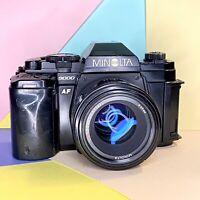 Minolta 9000 AF 35mm SLR Film Camera Kit, Flash, Grip, 50mm 1.7 & 28-85mm Lenses