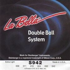 Jeu/Set strings cordes LA BELLA S942 Double ball Extra light 009-042- NEUF