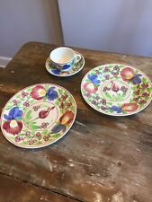 Villeroy & Boch Vintage Adam Rose Wallerfangen Plates Cup And Saucer Germany
