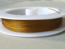 60 m Rolle Schmuckdraht Juwelierdraht Stahlseide 0,38 mm gold 2778