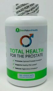 Ben's Natural Health - Total Health for the Prostate - 180 VegiCaps - NEW/SEALED