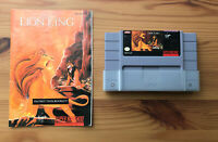 THE LION KING Super Nintendo SNES Cleaned Tested & Working! - AUTHENTIC