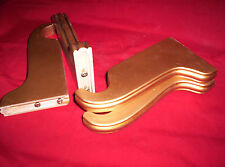 "4 Wooden Curtain BRACKETS. GOLDEN 7"" Projection for 1-1/4"" diam ROD. 2 NEW PAIRS"