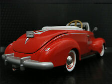 Pedal Car Rare 1940s Ford Vintage Red Hot Rod Sport Midget Metal Show Model