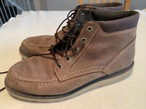 Men's Timberland Brown Nubuck Earth Keepers Boots Size Uk 10