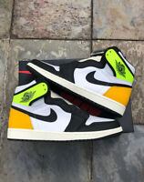 Air Jordan 1 Retro High OG White Volt Gold 555088-118/575441-118 GS & Men Size