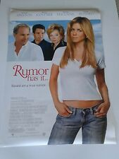 """RUMOR HAS IT double sided movie poster 27""""x 40"""" (Aniston, Costner, MacLaine)"""