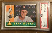1960 Topps Baseball Stan Musial PSA 6 EX-MT #250 St. Louis Cardinals HOF