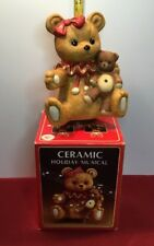 Ceramic Holiday Musical Display ~ Christmas Music Box ~ By Yuletide Concepts