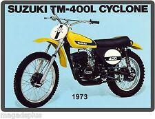 1973 Suzuki TM 400L  Motorcycle Dirt Bike  Refrigerator / Tool  Magnet