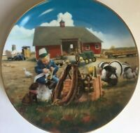 John Deere Plate Danbury Mint Collectible Too Busy To Play E857 Limited Edition