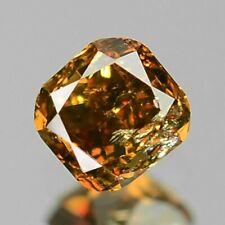0.11 Carat NATURAL Sparkly Cognac ORANGE DIAMOND LOOSE for Setting Cushion Cut
