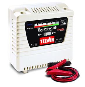 Caricabatterie carica batteria monofase portatile TELWIN Touring 18 230V 12-24V