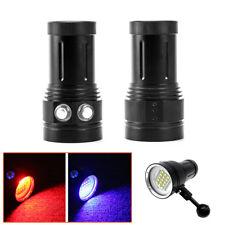 Diving Light Underwater Video 15 XML2+6 Red+6 UV LED Photography Flashlight Lamp