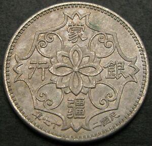 MENG CHIANG (China) Chiao 27(1938) - Copper/Nickel - aUNC - 1606 *