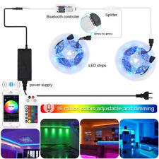 10M 5050 RGB LED Strip Light Set+WIFI/Bluetooth Mesh APP Controller+Transformer