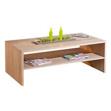 Table basse rectangulaire moderne plateau et structure decor CHÊNE 6feeedddaf57