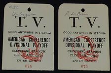1980 - AMERICAN CONFERENCE DIVISIONAL PLAYOFF - NFL MEDIA /TELEVISION TICKET (2)
