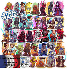 Lot autocollants stickers PERSONNAGES STAR WARS