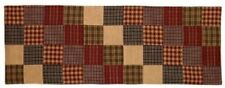 "Farmhouse Rebeccas Patchwork 13"" by 36"" Cotton Table Runner Cottage Primitive"