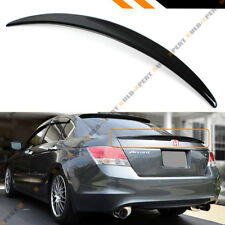 FOR 2008-2012 HONDA ACCORD 4DR SEDAN JDM PAINTED GLOSSY BLACK TRUNK LID SPOILER
