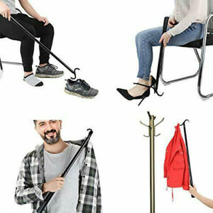 "28"" Long Dressing Stick with Shoe Horn with Sock Removal Tool, Adjustable Extend"