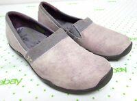 Ahnu women's size 8 M leather ballet flats shoes loafers comfort purple