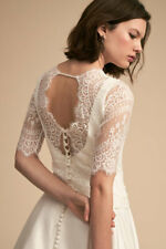 New BHLDN Catherine Deane Kelis Topper White Lace Long Sleeve Size XS