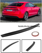 For 09-Up Audi A5 S5 Coupe 2Dr Black Primer Finish Rear Trunk Spoiler Wing Lip