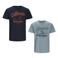 Jack & Jones Mens Plus Size T Shirts Casual Short Sleeve Summer Tee Tops 3XL-8XL