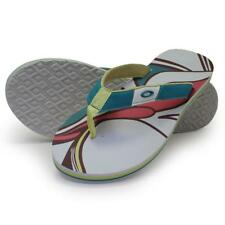 Oakley TREATY Sandals White Print Size 10 US Womens Beach Flip Flops Thongs