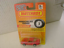 1978 ON BASE 1990 ON CARD MATCHBOX SUPERFAST #3 RED 911 PORSCHE TURBO NEW MOC