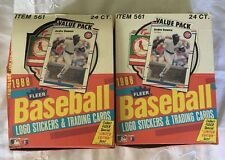 LOT OF (2) Boxes 1988 Fleer Baseball Cards, (1) Complete, (1) With (16) Packs