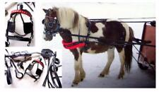 Black PLAIN RED BB  Leather Mini Sh Pony Driving show training cart harness NEW