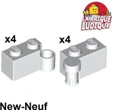 Lego - 4x Charnière hinge brique brick swivel 1x4 blanc/white 3830 3831 NEUF