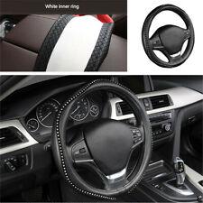 Car Truck Steering Wheel Cover Bling Crystal Rhinestone PU Leather 38cm/15inch
