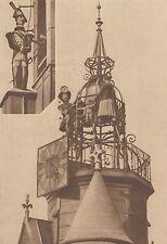 G2032 France - Horloges automates de Romans - Stampa d'epoca - 1932 Old print