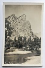 1947 CA Real Photo Postcard RPPC Yosemite National Park Three Brothers peaks 3