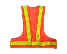 AdirPro Orange LED Light Flame Resistant High Visibility Reflective Safety Vest