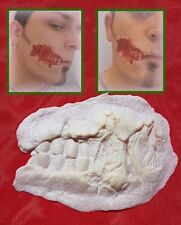 "Ripped Jaw ""Zombie"" ""Walking Dead"" ""White Walker"" latex scar prosthetic wound"