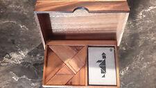 casse tête bois double tangram box