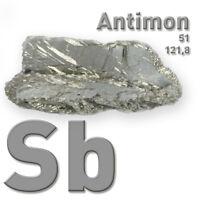 Antimon Metall - Antimony metal 51 Sb - 50 Gramm - Pure Element Sample - 99,65%