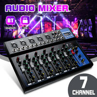 7 Channel Audio Mixing Console  Professional USB bluetooth Music Stereo Mixer DJ