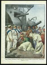 1911 Italo-Turkish War, Arabs from Tripoli perform act of Submission - Belltrame