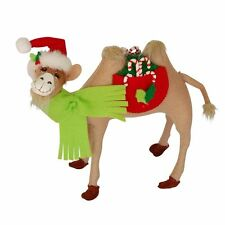 """Holly Berry Camel 9"""" Poseable Christmas Winter Holiday Decoration Annalee 2015"""