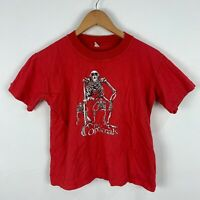 VINTAGE The Optionals Australian Band Shirt Youth Size 14 Red Short Sleeve