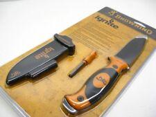 BROWNING Black Orange IGNITE Straight Fixed Knife + Sheath + FIRESTARTER! 161