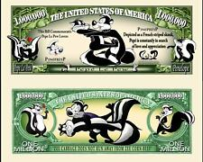 Pepe Le Pew Million Dollar Bill Collectible Fake Funny Money Novelty Note