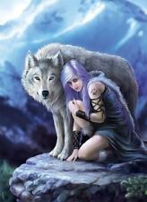 CLEMENTONI JIGSAW PUZZLE PROTECTOR ANNE STOKES COLLECTION 1000 PCS WOLF #39465